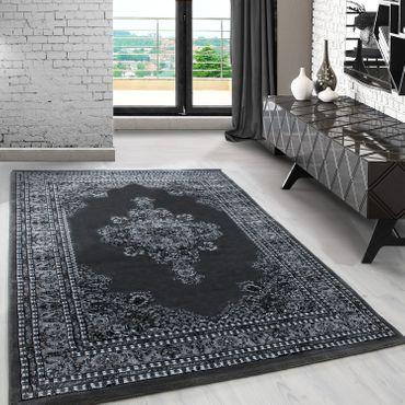 Orientteppich kurzflor Orientalisch Traditional Afghanischer Muster Grau  – Bild 1