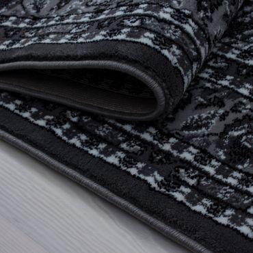 Orientteppich kurzflor Orientalisch Traditional Afghanischer Muster Grau  – Bild 3