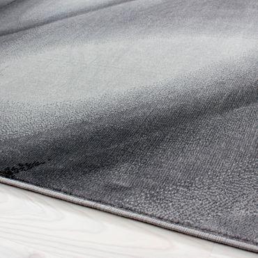 Teppich modern Designer Wohnzimmer Abstrakt Wellen Linien Muster Schwarz Grau – Bild 2