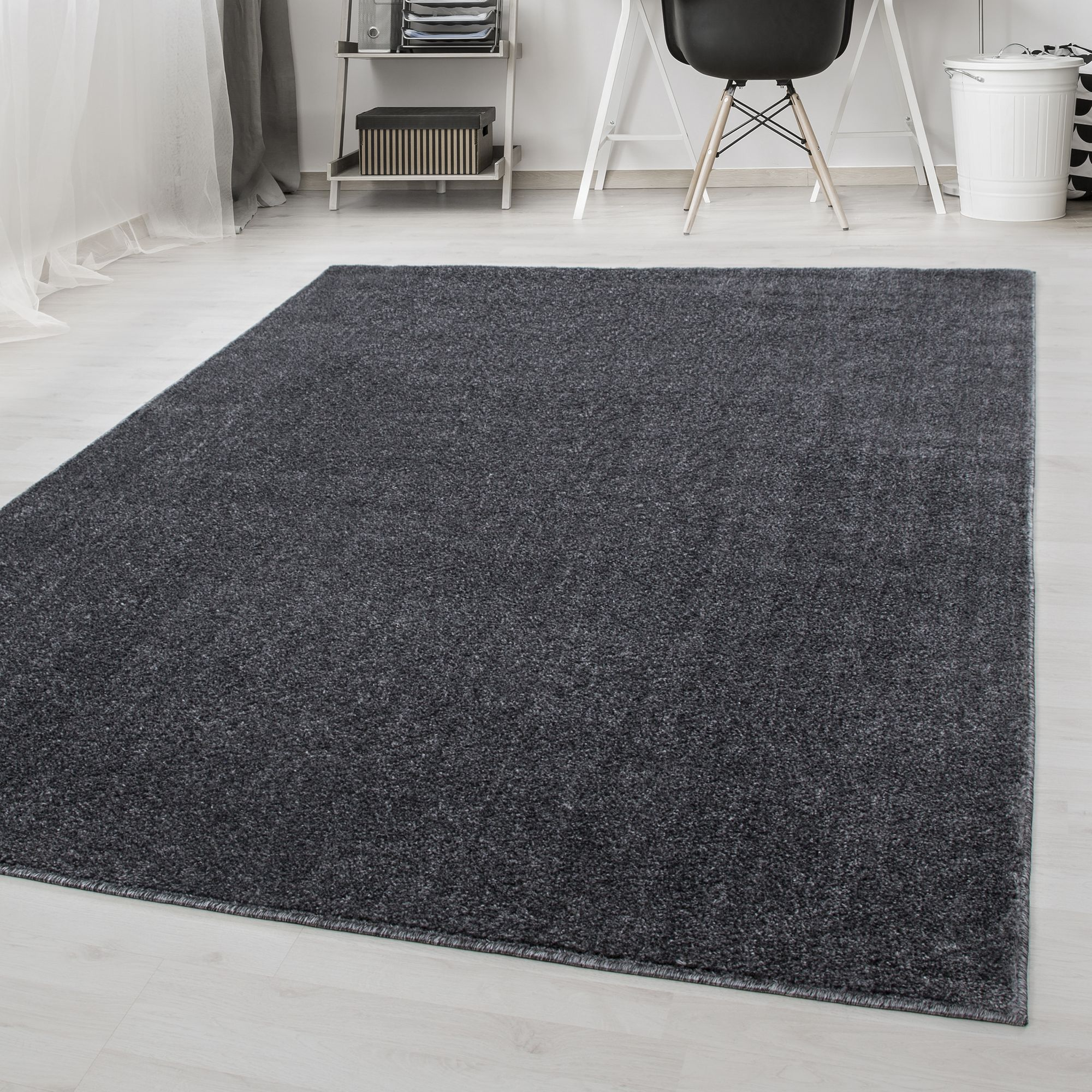 Area Rugs Short Pile Plain Modern