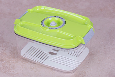 Vakuumbehälter 2,0l - eckig - grün – Bild 1