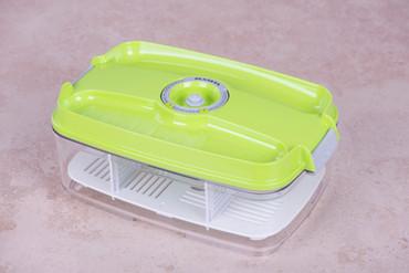 Vakuumbehälter 3,0l - eckig - grün – Bild 1