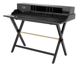 Casa Padrino travel desk with 5 drawers black - luxury desk