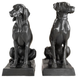 Casa Padrino luxury bronze figures set of 2 dogs 32 x 60 x H. 73 cm - limited edition