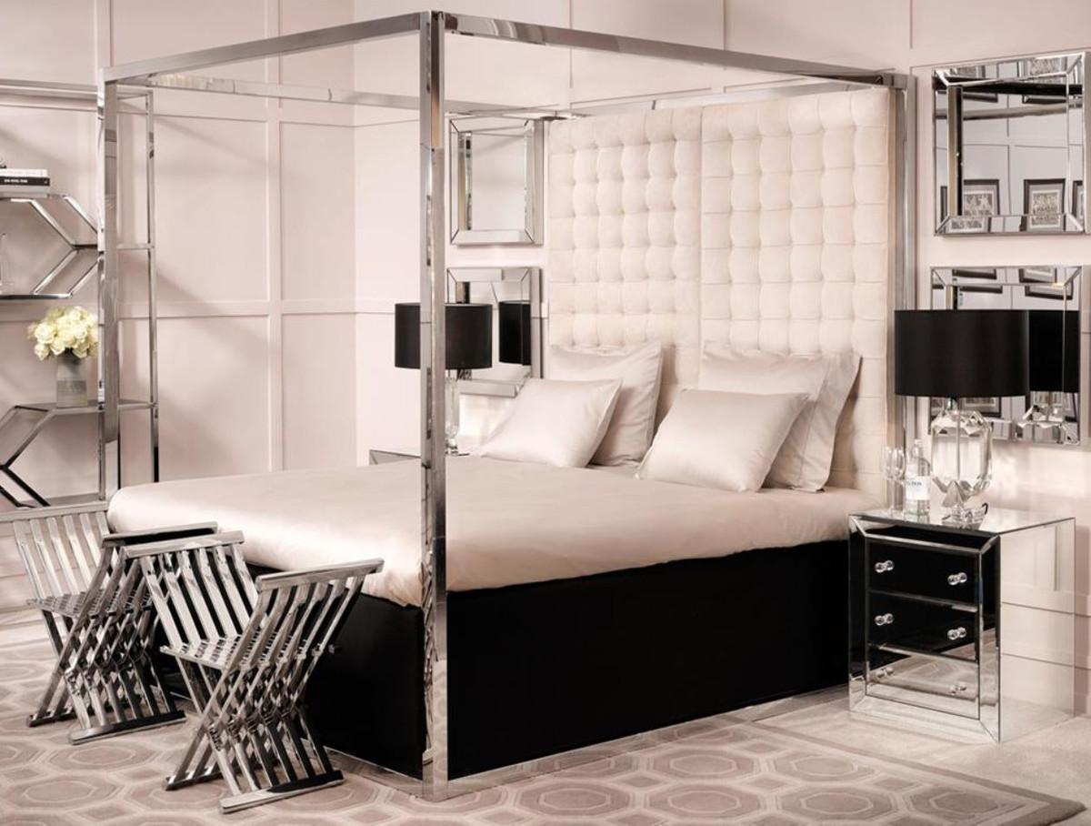 casa padrino luxus bettgestell mit kopfteil naturfarbig 190 x 220 x h 220 cm designerm bel betten. Black Bedroom Furniture Sets. Home Design Ideas
