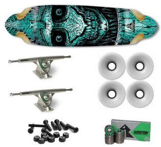 Koston Longboard Profi Komplettboard Set Cruiser / Carver Skull Amort 36.7 x 10.0 inch - High End Longboard Carving Board
