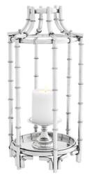 Casa Padrino candlestick silver 30.5 x 30.5 x H. 60.5 cm - luxury hotel restaurant accessories