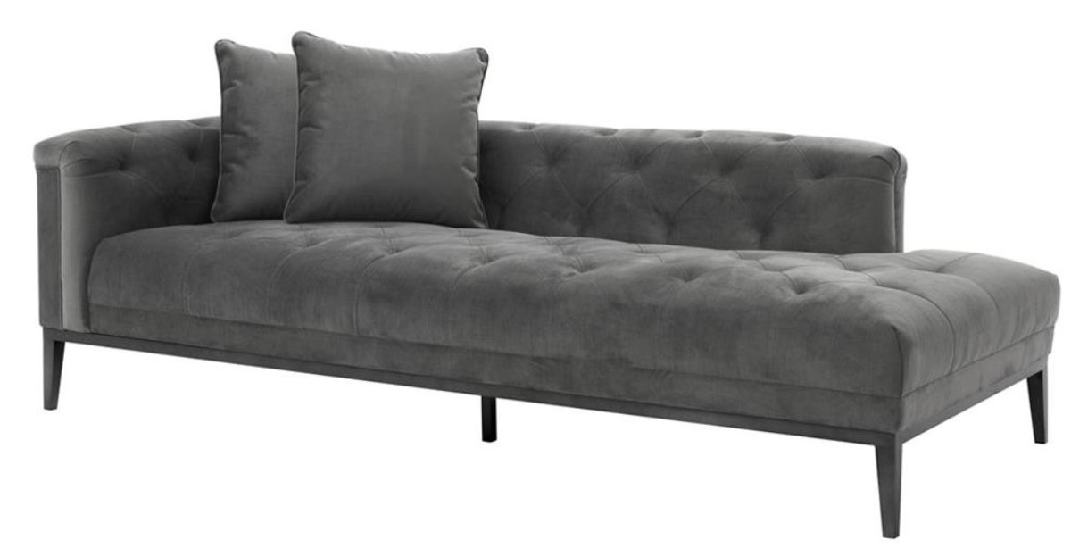 casa padrino luxus sofa dunkelgrau linksseitig 220 x 96 x. Black Bedroom Furniture Sets. Home Design Ideas