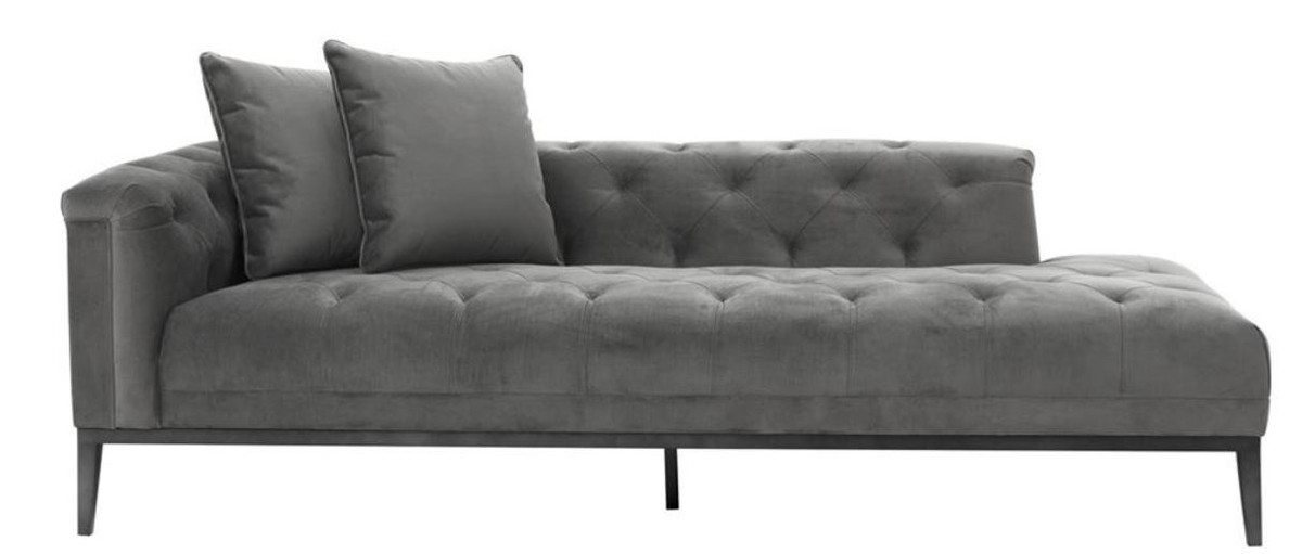 casa padrino luxus sofa dunkelgrau linksseitig 220 x 96 x h 66 cm hotel m bel sofas luxus. Black Bedroom Furniture Sets. Home Design Ideas