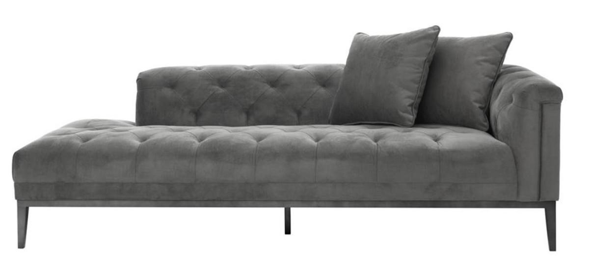 Casa Padrino Designer Sofa Dunkelgrau 157 x 148 x H 90 cm Rundsofa