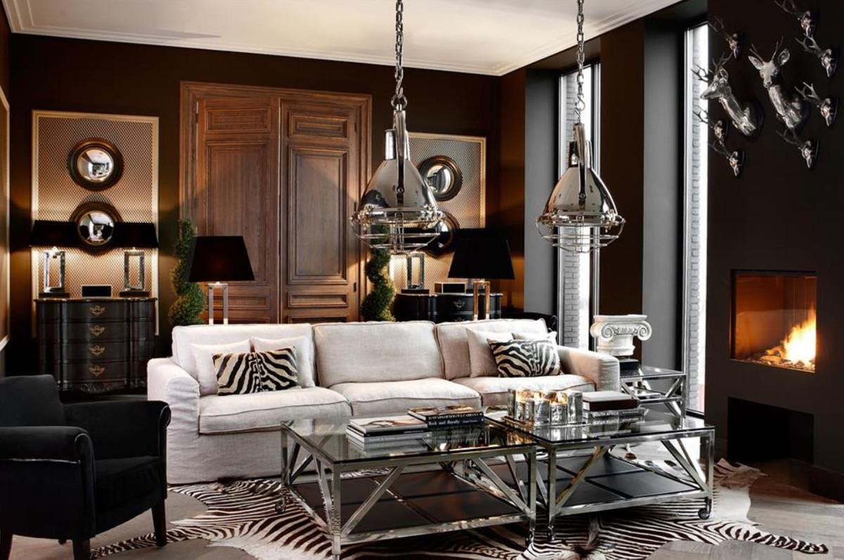 Casa padrino wanddekoration wandfiguren hirsche silber Luxus dekoration