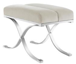 Casa Padrino Luxury Stool Light Gray 69 x 42 x H. 51 cm - Designer Furniture