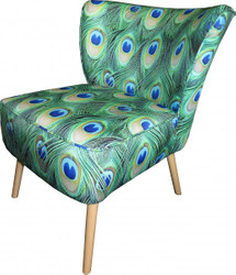 Casa Padrino Retro Salon Armchair Peacock - Cocktail arm chair 60s