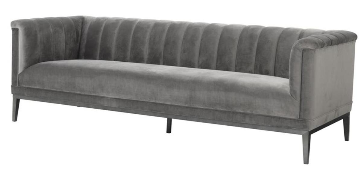 casa padrino sofa grau 230 x 86 x h 75 cm luxus kollektion sofas luxus hotel sofas. Black Bedroom Furniture Sets. Home Design Ideas