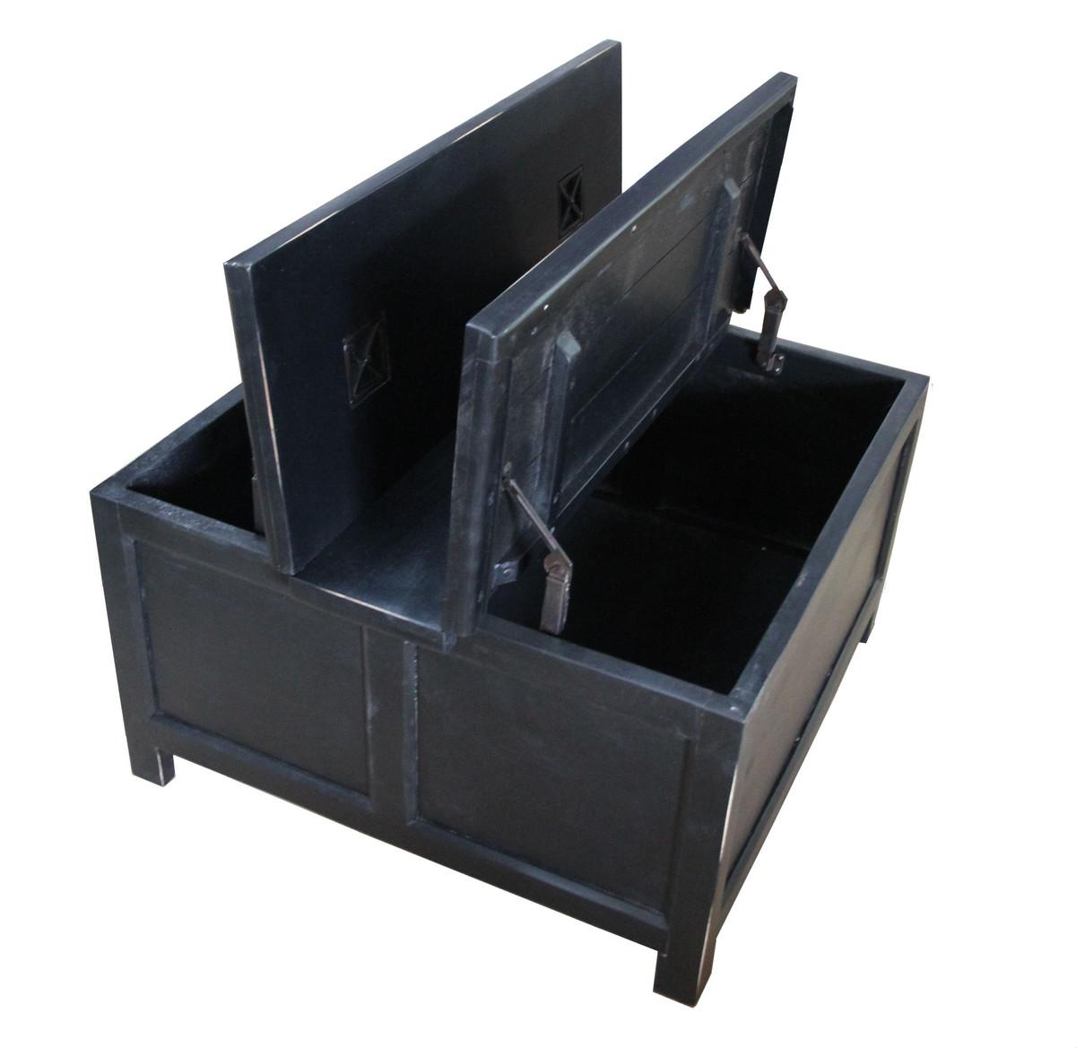 Casa padrino folding table in black 85 5 cm x 85 5 cm x for Table 85 cm de large