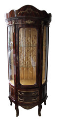 Casa Padrino Barock Vitrine Model Mahagonibraun - 80 cm x 50 cm x H 188 cm x  Vitrinenschrank - Wohnzimmerschnank