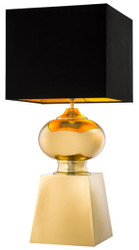 Casa Padrino design table lamp gold with black lampshade - luxury collection