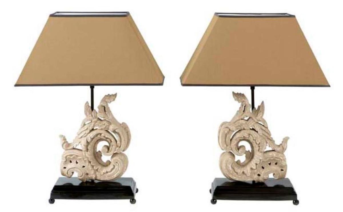 Casa Padrino Luxus Designer Hotel Tischleuchten 8er Set in antik grau -  Wohnzimmer Tischlampen