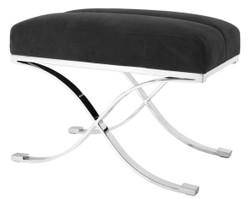 Casa Padrino Luxury Stool Anthracite Gray 69 x 42 x H. 51 cm - Designer Furniture