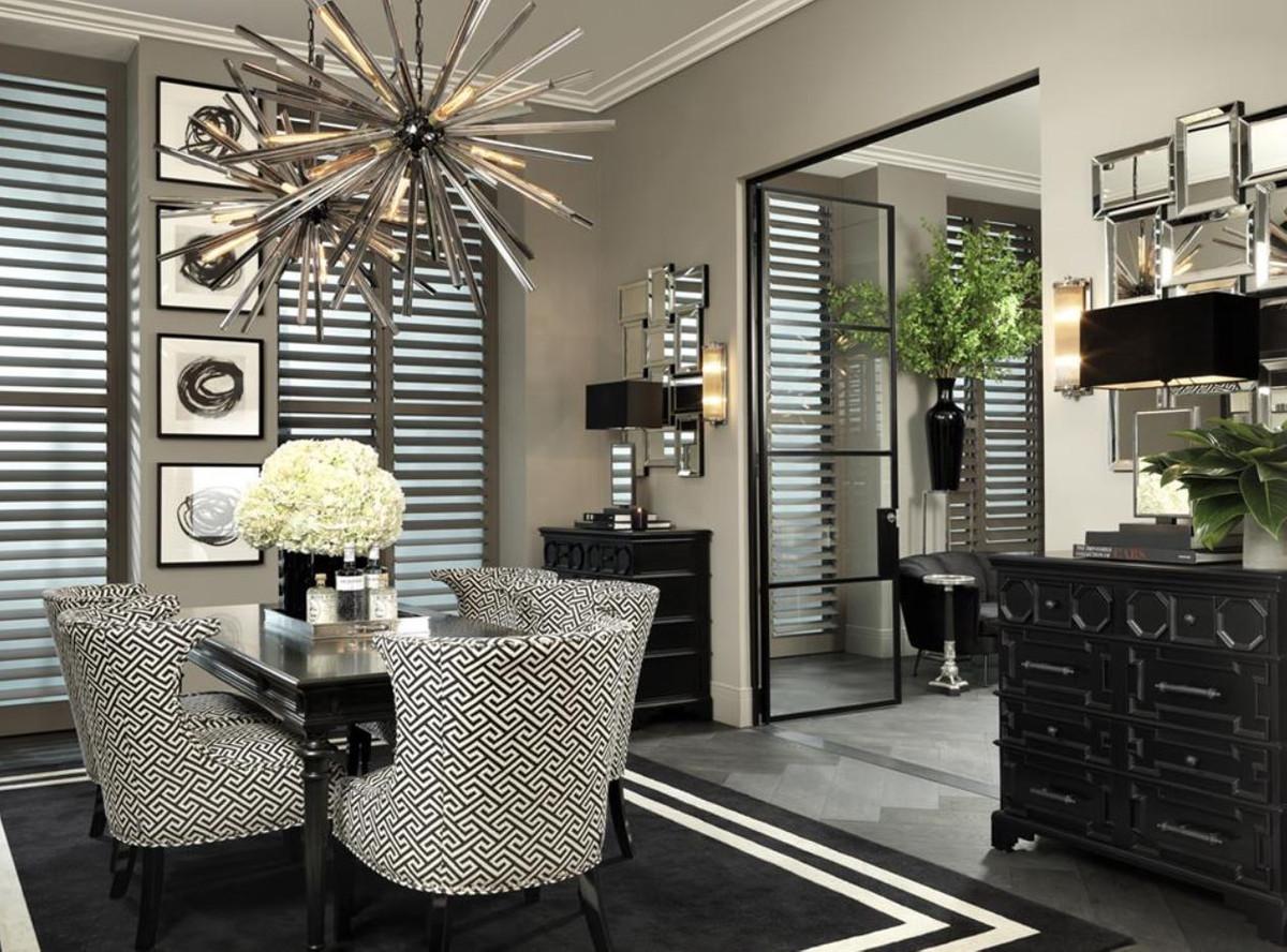 casa padrino luxus wohnzimmer kronleuchter mit rauchglas durchmesser 120 cm designer kollektion bild 5 - Luxus Wohnzimmer