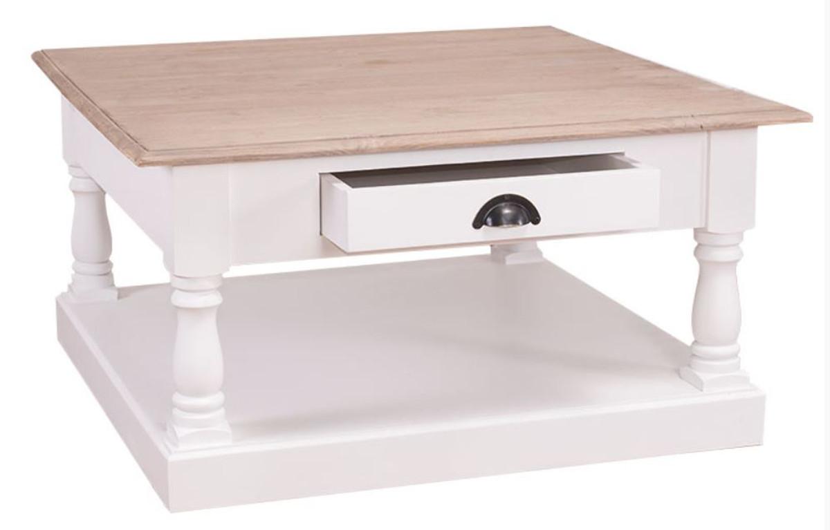 casa padrino table de chevet style maison de campagne avec tiroir 90 x 90 x h 47 cm meuble style maison de campagne