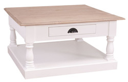 Casa Padrino country house style couch table with drawer 90 x 90 x H. 47 cm - country house style furniture
