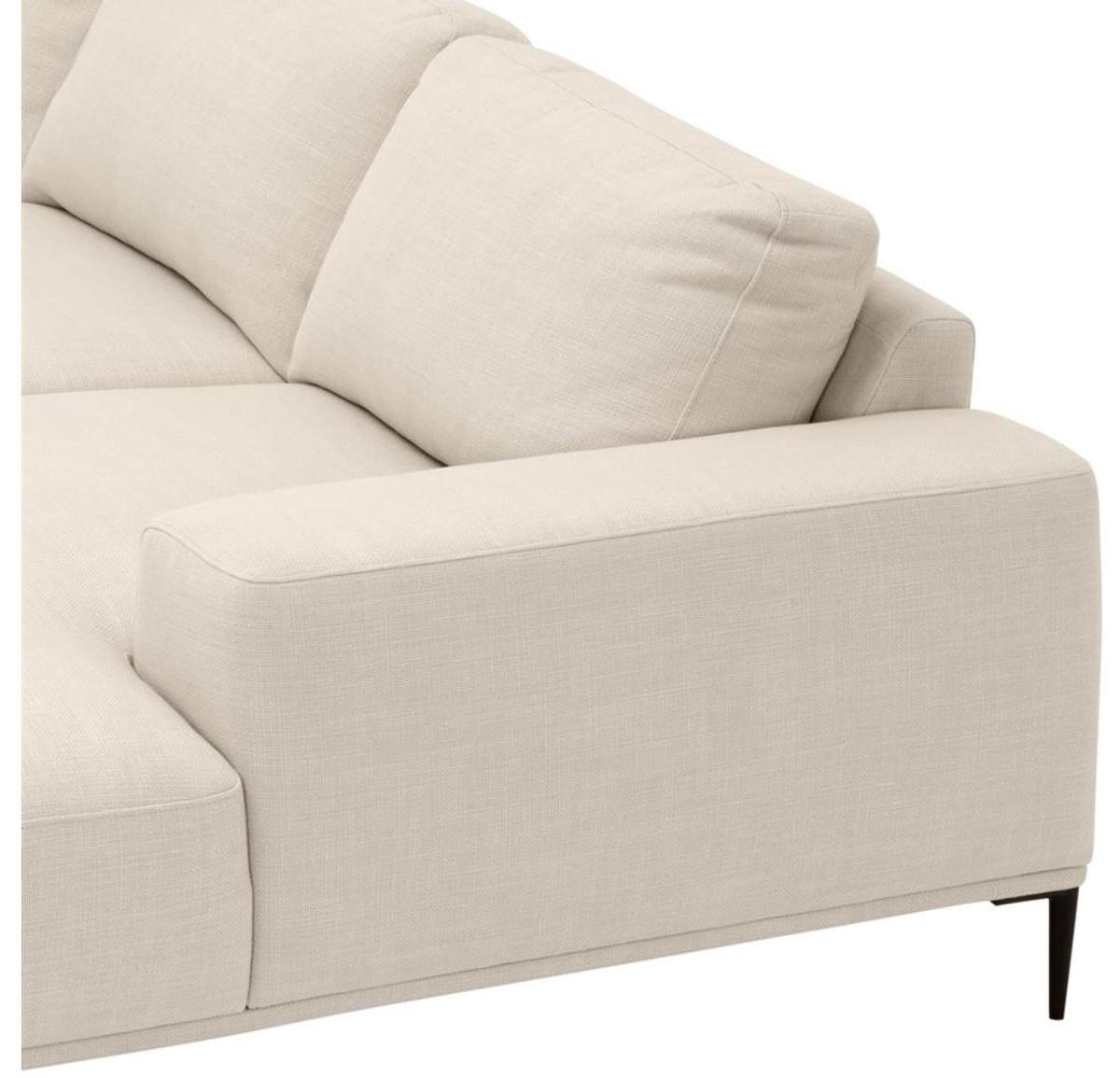casa padrino luxus lounge sofa naturfarbig 285 x 164 x h 80 cm luxus kollektion sofas luxus. Black Bedroom Furniture Sets. Home Design Ideas