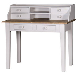 Casa Padrino country house style desk with 6 drawers 109 x 60 x H. 102 cm - Luxury quality