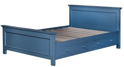 Casa Padrino Landhausstil Bett Blau 160 x 200 cm - Schlafzimmermöbel im Landhausstil – Bild