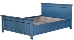 Casa Padrino country house bed blue 160 x 200 cm - bedroom furniture in the country house style