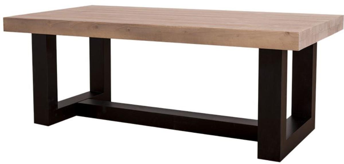 casa padrino landhausstil couchtisch mit eichenholz tischplatte 120 x 60 x h 45 cm. Black Bedroom Furniture Sets. Home Design Ideas