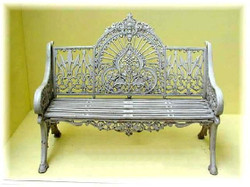 Casa Padrino 2 Seater Garden Bench - Vintage Wrought Iron Bench