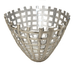 Casa Padrino Designer Decoration Vase - Aluminum Decoration Object - Magazine Basket
