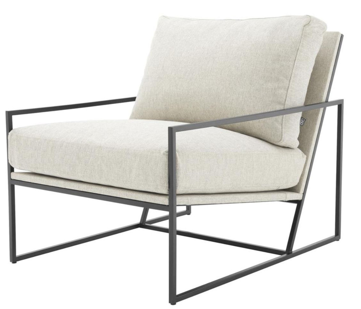 Casa padrino luxury hotel club chair 66 x 87 x h 68 cm for Sessel hellgrau