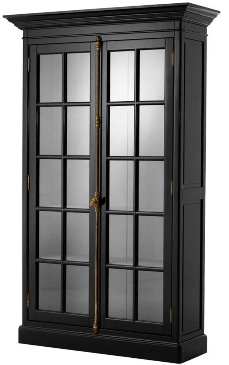 Casa Padrino Luxus Wohnzimmerschrank Schwarz 7 x 7 x H. 7 cm - Limited  Edition