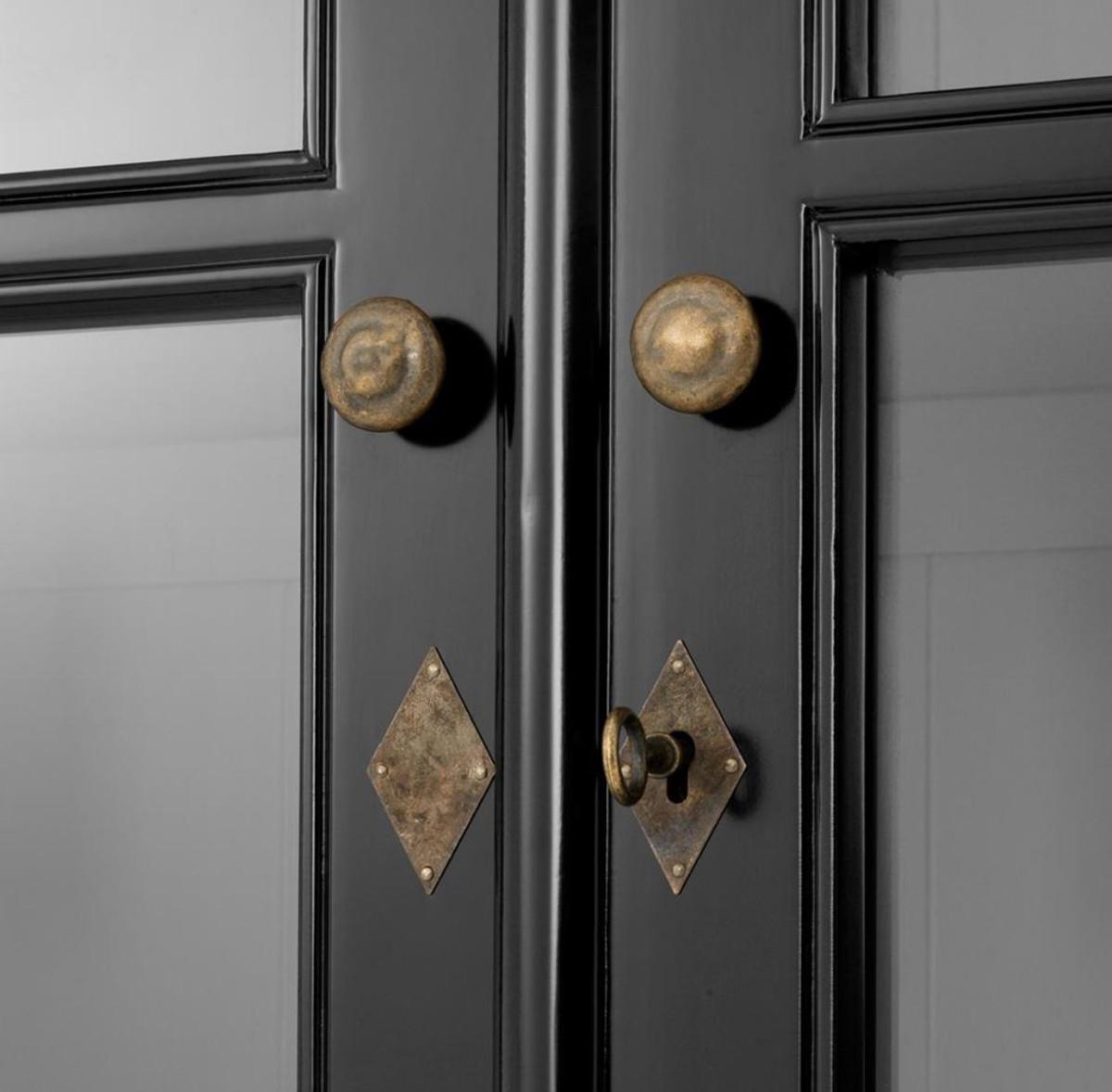 Casa padrino luxus wohnzimmerschrank schwarz 90 x 38 x h for Wohnzimmerschrank schwarz