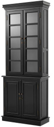 Casa Padrino Luxury Living Room Black 90 x 38 x H. 230 cm - Limited Edition