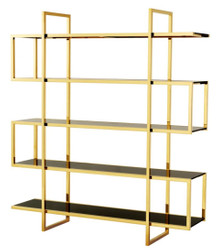 Casa Padrino luxury shelf cabinet gold 160 x 42 x H. 180 cm - designer hotel furniture