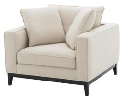 Casa Padrino luxury living room armchair natural color 116 x 106 x H. 94 cm - luxury furniture
