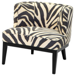Casa Padrino armchair in zebra design 78 x 74 x H. 77 cm - luxury living room armchair