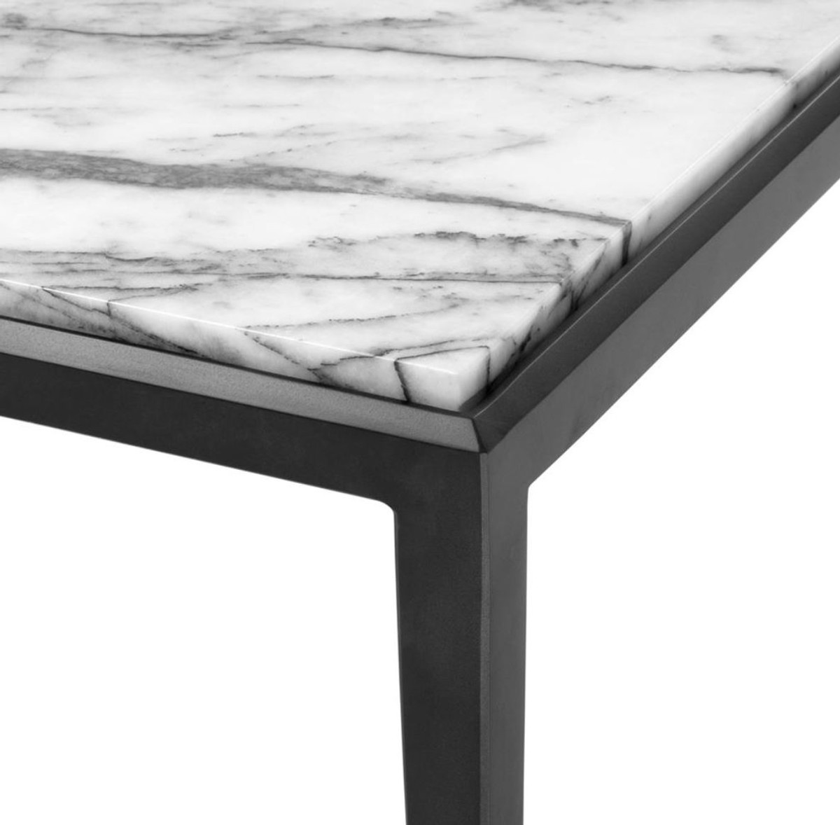 - Casa Padrino Coffee Table In Bronze With White Marble Top 160 X 78