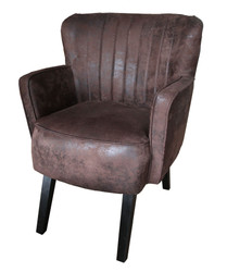 Luxury ladies salon chair Brown leather optic / black from the luxury collection of Casa Padrino - Hotel Cafe Restaurant Furniture Furnishings