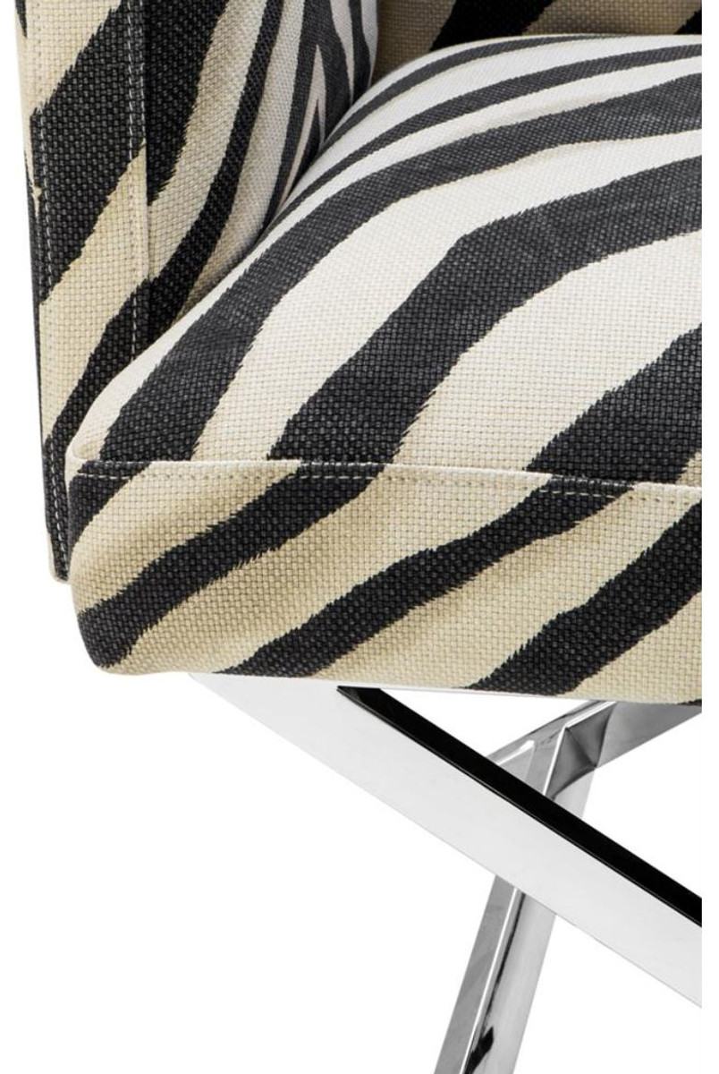 Casa Padrino Luxus Club Sessel im Zebra Design 68 x 57 x H. 74 cm - Art Deco Möbel 3