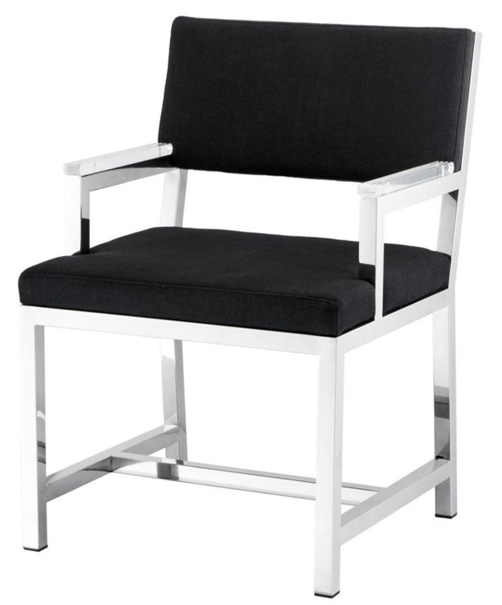 Casa Padrino Designer Stuhl mit Armlehnen 55 x 59 x H. 82 cm - Luxus ...