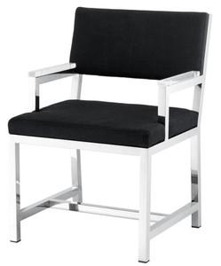 Casa Padrino Designer Stuhl mit Armlehnen 55 x 59 x H. 82 cm - Luxus Büromöbel