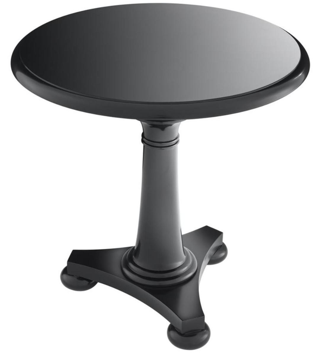 Casa Padrino Luxus Tisch / Beistelltisch Schwarz 75 x H. 75 cm - Hotel Kollektion 2