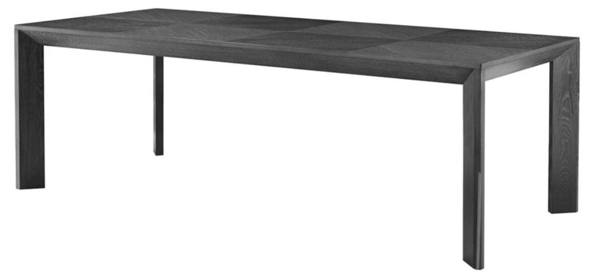 Casa Padrino Luxus Esstisch in schwarz 225 x 100 x H. 75 cm - Limited Edition 1