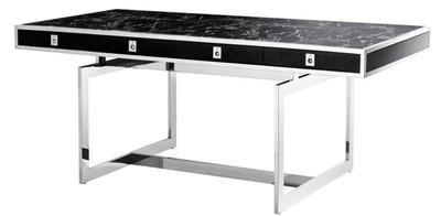 Casa Padrino Luxus Schreibtisch mit 4 Schubladen 190 x 90 x H. 74,5 cm - Luxus Kollektion