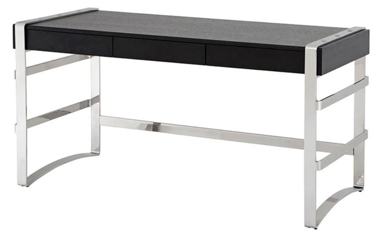 Casa Padrino Luxus Schreibtisch mit Schublade 150 x 73 x H. 80 cm - Designer Büromöbel 1