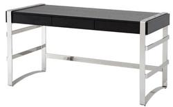 Casa Padrino Luxus Schreibtisch mit Schublade 150 x 73 x H. 80 cm - Designer Büromöbel